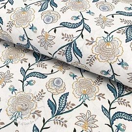 Cotton fabric Saida blue digital print
