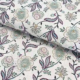 Cotton fabric Saida mauve digital print