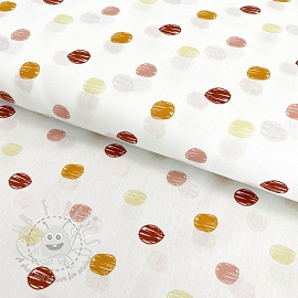 Cotton fabric Sketch Dot ochre