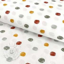Cotton fabric Sketch Dot old green