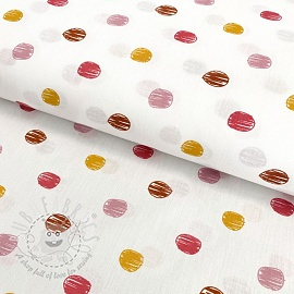 Cotton fabric Sketch Dot old pink