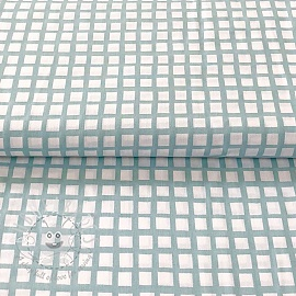 Cotton fabric Special square mint