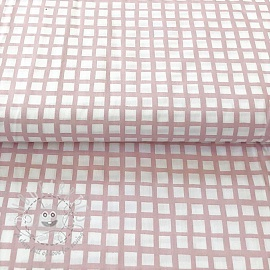 Cotton fabric Special square old pink
