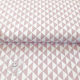 Cotton fabric Special triangle old pink