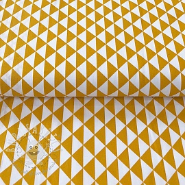 Cotton fabric Special triangle yellow 2nd class