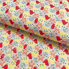 Cotton fabric SPONGEBOB All icon digital print