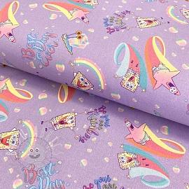 Cotton fabric SPONGEBOB Best day ever digital print