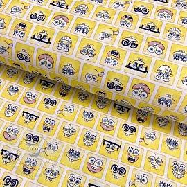 Cotton fabric SPONGEBOB Emoticon digital print