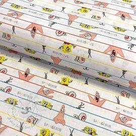 Cotton fabric SPONGEBOB Hide and seek digital print