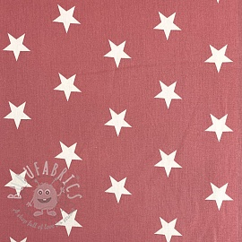 Cotton fabric Stars blush