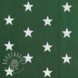Cotton fabric Stars dark green