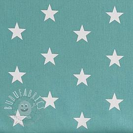 Cotton fabric Stars fresh sage