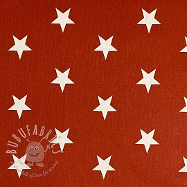 Cotton fabric Stars terra
