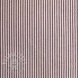 Cotton fabric Stripe aubergine