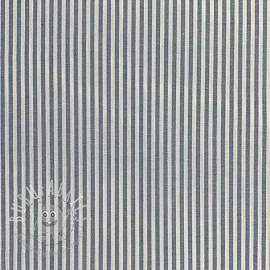 Cotton fabric Stripe blue