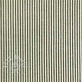 Cotton fabric Stripe dark green