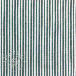 Cotton fabric Stripe dark petrol