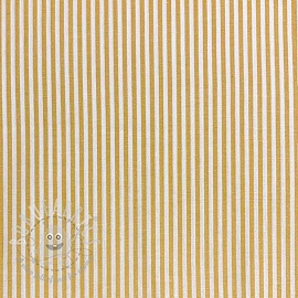 Cotton fabric Stripe ochre