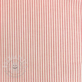 Cotton fabric Stripe old rose