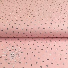 Cotton fabric Sweet stars pink