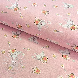Cotton fabric The Princess And The Bunny digital print