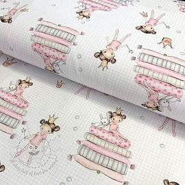 Cotton fabric The Princess And The Pea digital print