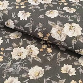 Cotton fabric Timeless grey digital print