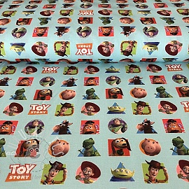 Cotton fabric Toy Story patch digital print