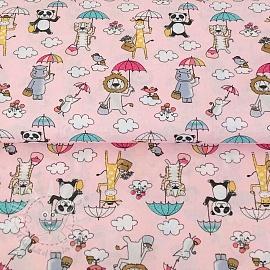 Cotton fabric Under my umbrella rose
