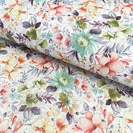Cotton fabric Vivai flowers unico digital print