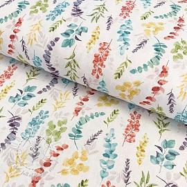 Cotton fabric Vivai leaves unico digital print