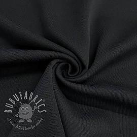 Cotton jersey INTERLOCK black