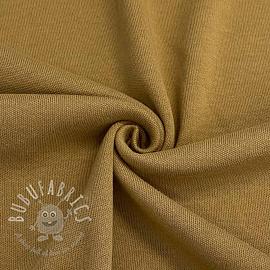 Cotton jersey INTERLOCK camel