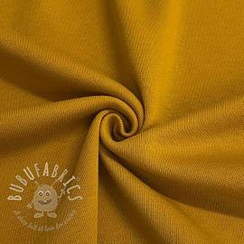 Cotton jersey INTERLOCK ochre
