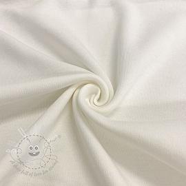 Cotton jersey INTERLOCK off white