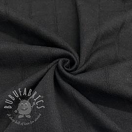 Cotton jersey INTERLOCK Stripe black