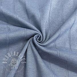 Cotton jersey INTERLOCK Stripe blue