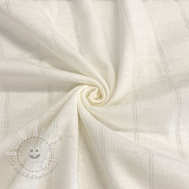 Cotton jersey INTERLOCK Stripe cream