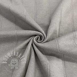 Cotton jersey INTERLOCK Stripe grey