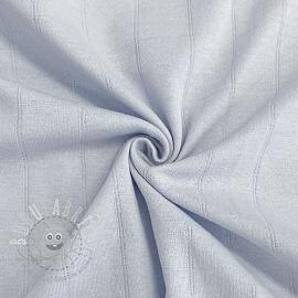 Cotton jersey INTERLOCK Stripe light blue