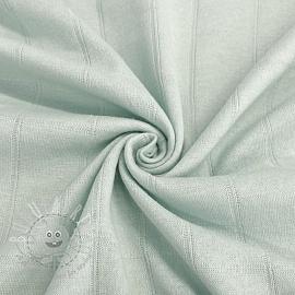 Cotton jersey INTERLOCK Stripe light mint