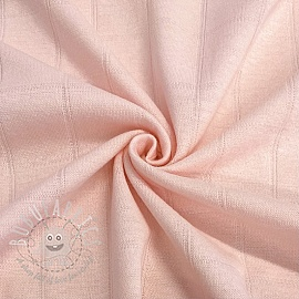 Cotton jersey INTERLOCK Stripe light pink