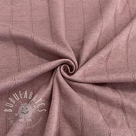 Cotton jersey INTERLOCK Stripe mauve