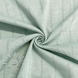 Cotton jersey INTERLOCK Stripe mint