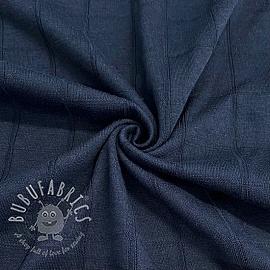 Cotton jersey INTERLOCK Stripe navy