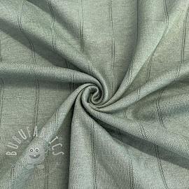 Cotton jersey INTERLOCK Stripe old green
