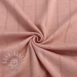 Cotton jersey INTERLOCK Stripe old rose