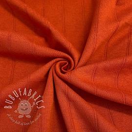 Cotton jersey INTERLOCK Stripe orange