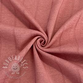 Cotton jersey INTERLOCK Stripe pink