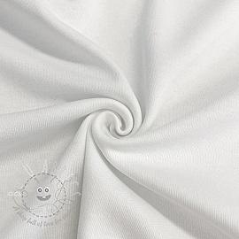 Cotton jersey INTERLOCK white
